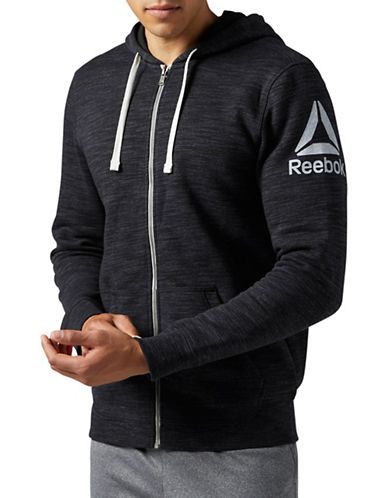 Reebok Elements Prime Group Hoodie-BLACK-X-Large