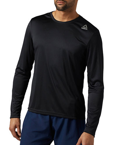 Reebok Running Long Sleeve T-Shirt-BLACK-Small