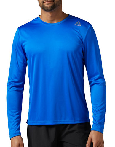 Reebok Running Long Sleeve Tee-BLUE-Medium