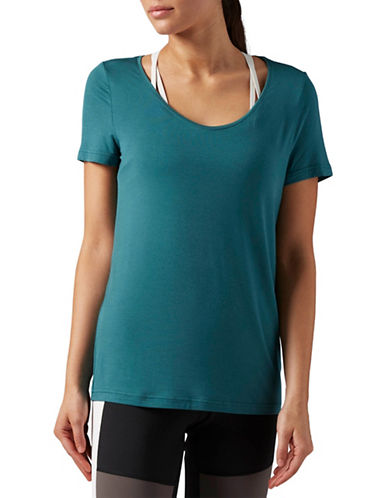 Reebok Favorite Tee-GREEN-Medium