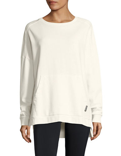 Reebok Favorite Cotton Pullover-WHITE-Medium