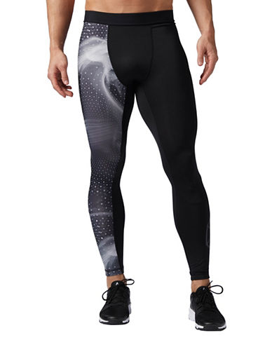 Reebok Cymatic Speedwick Compression Tights-BLACK-X-Large
