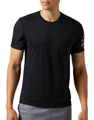 Reebok Lighthouse Speedwick Reflective T-Shirt-BLACK-X-Large
