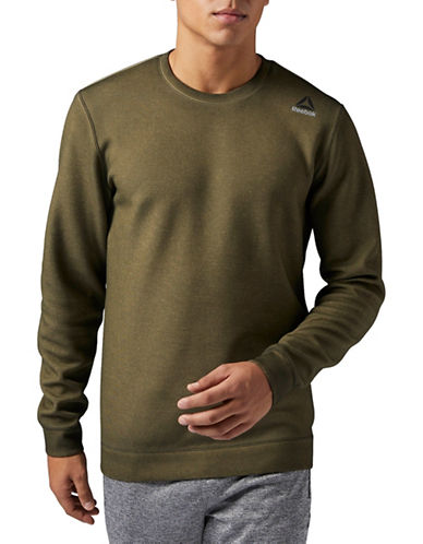Reebok Dirty Wash Crew Neck Sweater-GREEN-Small
