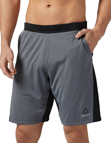 Reebok Colourblock Shorts-GREY-XX-Large