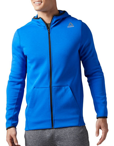 Reebok Quick Double Knit Full Zip Hoodie-BLUE-XX-Large