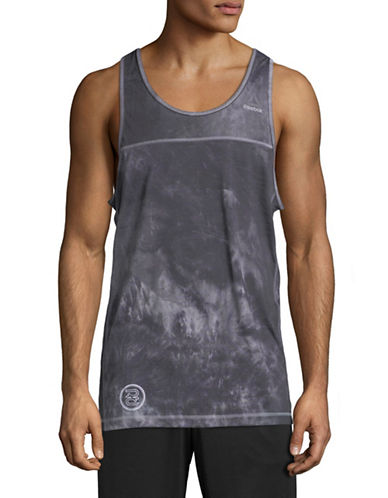 Reebok Spray-Dye Tank Top-BLACK-Medium 89681770_BLACK_Medium