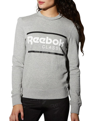 Reebok F Iconic Crew Neck Sweater-GREY-Small 89041104_GREY_Small
