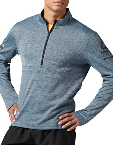 Reebok One Series Running Half-Zip Sweater-GREY-Large 88907605_GREY_Large