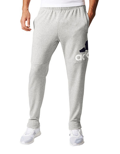 Adidas Essentials Logo French Terry Pants-GREY-Large 89381267_GREY_Large