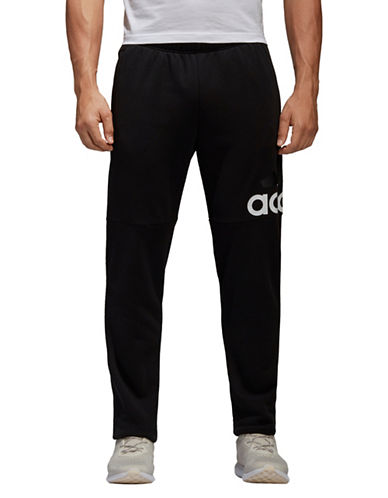 Adidas Essentials Logo French Terry Pants-BLACK-Large