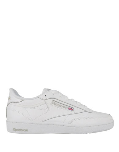 Reebok Kick Low Top Leather Sneakers-WHITE-8.5