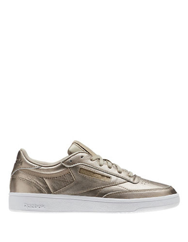Reebok Kick Low Top Leather Sneakers-GOLD GREY-11