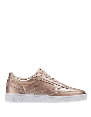 Reebok Kick Low Top Leather Sneakers-PEACH-9.5