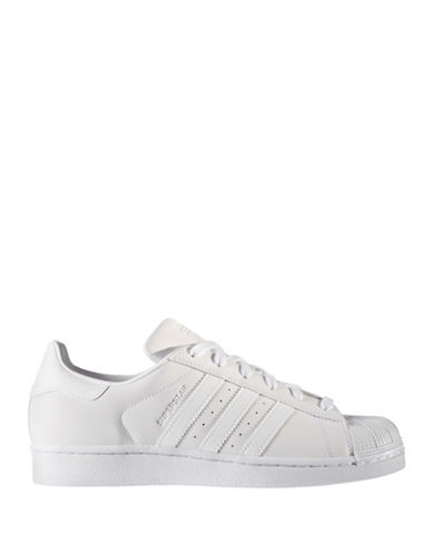 Adidas Womens Superstar Low Top Sneakers-WHITE-8