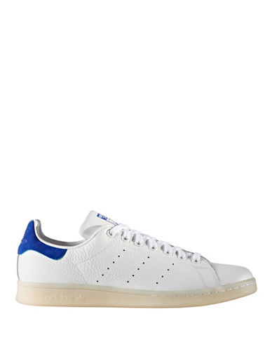 Adidas Originals Mens Stan Smith Leather Low Top Sneakers-WHITE-9.5