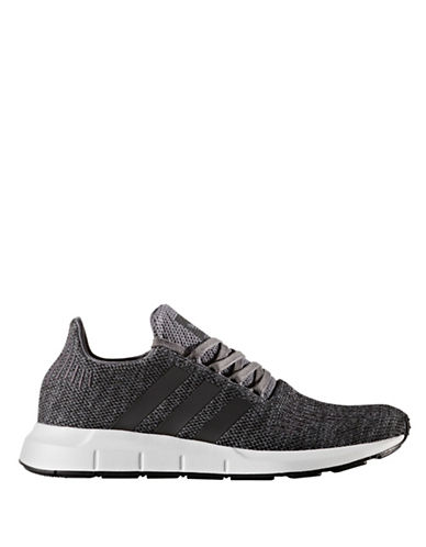 Adidas Originals Mens Swift Run Athletic Shoes-GREY-9