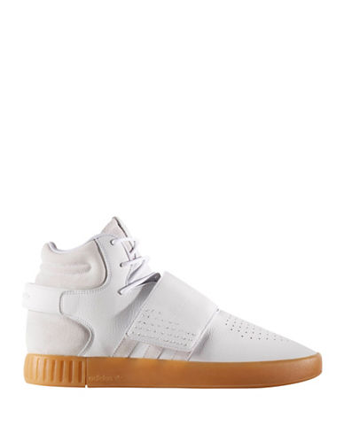 Adidas Originals Tubular Invader Mid-Cut Strap Sneakers-WHITE-10.5