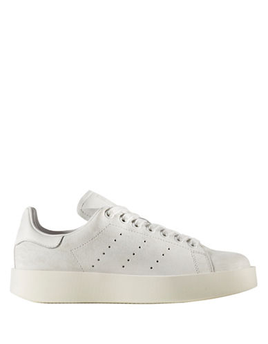 Adidas Stan Smith Bold Suede Sneakers-WHITE-8.5