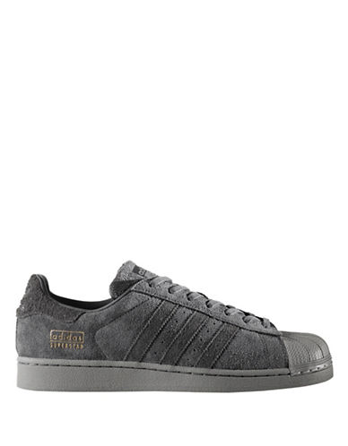 Adidas Originals Mens Superstar Low Top Sneakers-GREY-8.5