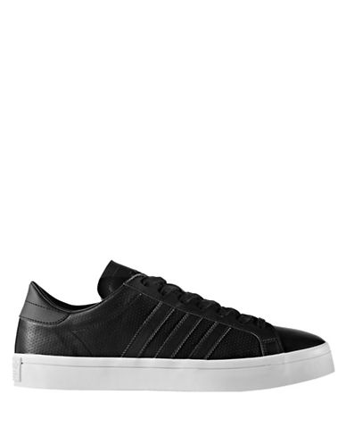 Adidas Originals Court Vantage Leather Sneakers-BLACK-9