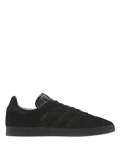 Adidas Originals Gazelle Sneakers-BLACK-8.5