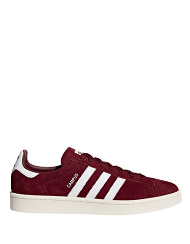 Adidas Originals Campus Lace-Up Sneakers-BURGANDY-8.5