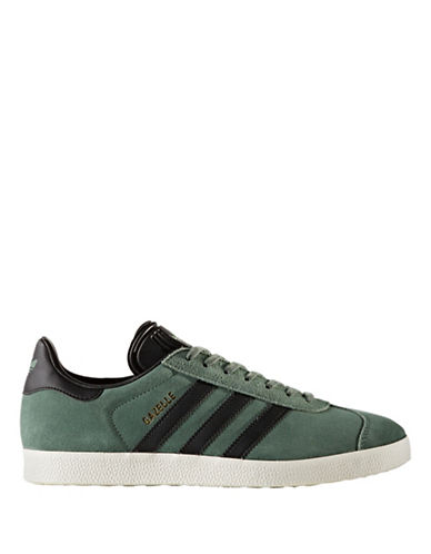Adidas Originals Mens Gazelle Low Top Sneakers-GREEN-8