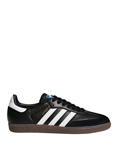 Adidas Originals Samba Leather Sneakers-BLACK-9.5