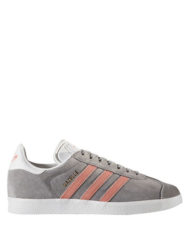 Adidas Womens Gazelle Sneakers-GREY-8.5