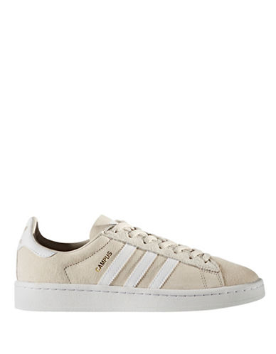 Adidas Womens Campus Leather Low Top Sneakers-BROWN-9