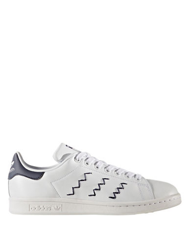 Adidas Stan Smith Zigzag Leather Low Top Sneakers-WHITE-6