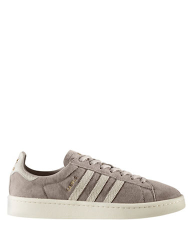Adidas Womens Campus Suede Sneakers-GREY-8