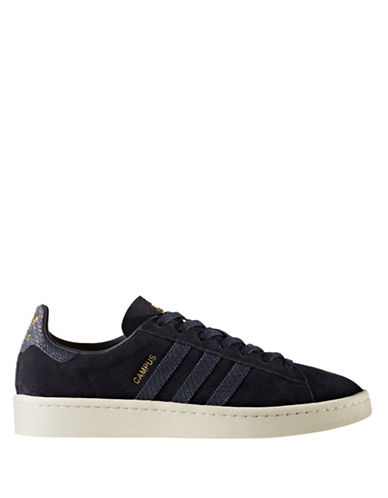 Adidas Womens Campus Suede Sneakers-BLACK-9.5