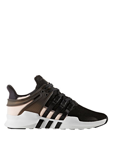 Adidas Womens EQT Support ADV Athletic Sneakers-BLACK-6.5
