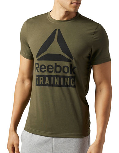 Reebok Training Speedwick T-Shirt-GREEN-Small