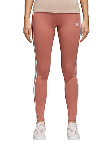 Three Stripes Cotton Leggings by Adidas Originals
