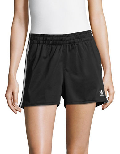 Adidas Originals Three-Stripe Shorts-BLACK-Small