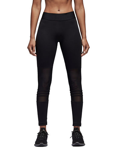 Adidas Mesh-Paneled Leggings-BLACK-Large 89747532_BLACK_Large