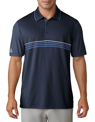 Adidas Golf Climacool Striped Polo Shirt-BLUE-Medium 89777327_BLUE_Medium
