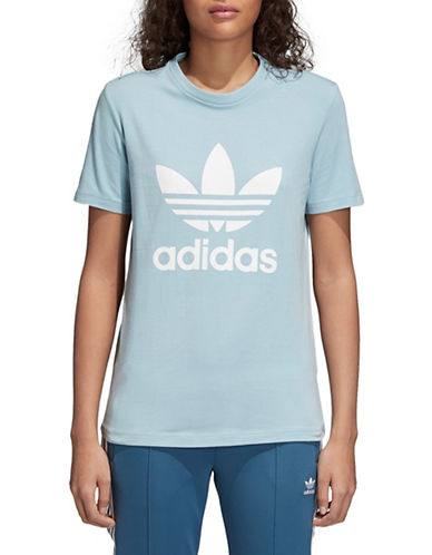 Adidas Originals Trefoil Stretch Tee-BLUE-Small 89796978_BLUE_Small