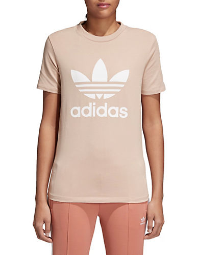 Adidas Originals Classic Trefoil Tee-ASH PEARL-Large 90071603_ASH PEARL_Large