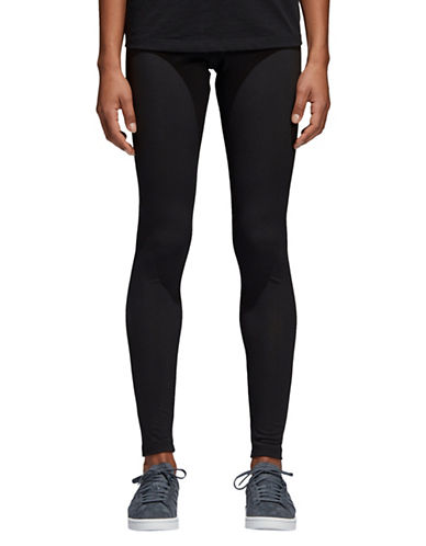 Adidas Originals Trefoil High-Waist Leggings-BLACK-Medium
