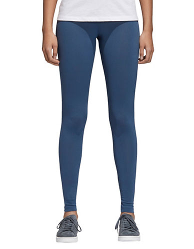 Adidas Originals Trefoil High-Waist Leggings-BLUE-X-Large