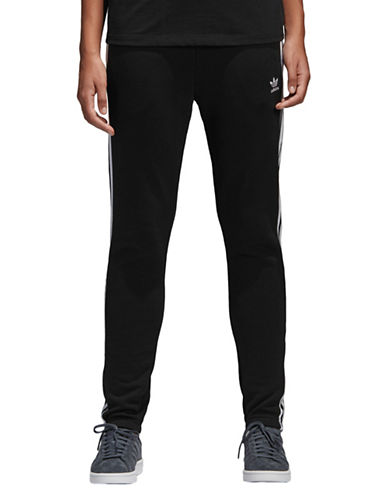 Adidas Originals Regular Cotton Track Pants-BLACK-Small 89855313_BLACK_Small