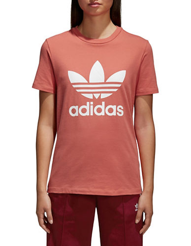Adidas Originals Trefoil Stretch Tee-SCARLETT-Large