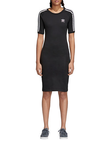 Adidas Originals Three-Stripes Dress-BLACK-Large