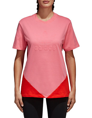 Adidas Originals CLRDO Short-Sleeve Cotton Tee-PINK/RED-Large 90087126_PINK/RED_Large