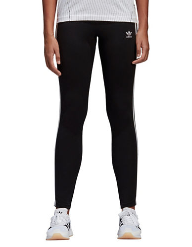 Adidas Originals Three-Stripes Leggings-BLACK-Medium 89796928_BLACK_Medium