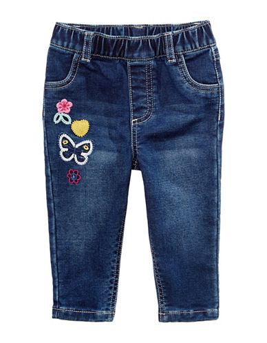 First Impressions Patches Jeans-BLUE-6-9 Months